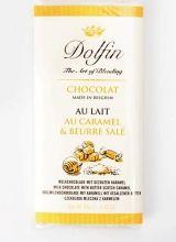 Dolfin 70g. Ciocolata cu lapte, caramel & unt
