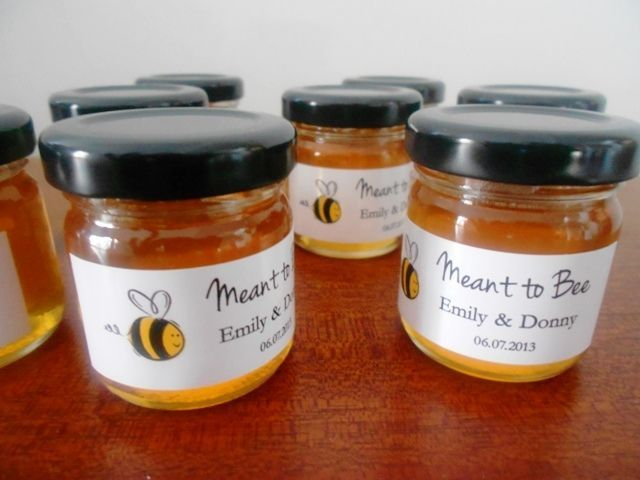 Wedding Favours - although would be good if it was lavendar honey...maybe decorated with a sprig of lavendar and ribbon?