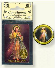 Divine Mercy Car Magnet & Prayer Card.