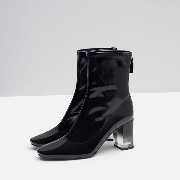HIGH HEELED PATENT BOOTIE-Ankle boots-Shoes-WOMAN | ZARA United States