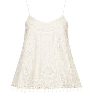 So easy and breezy! Swing Crochet Cami Top by Kate Moss for Topshop