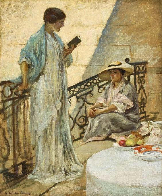 The Landing, 1911 ~ Rupert Charles Wulsten Bunny ~ (Australian: 1864-1947)