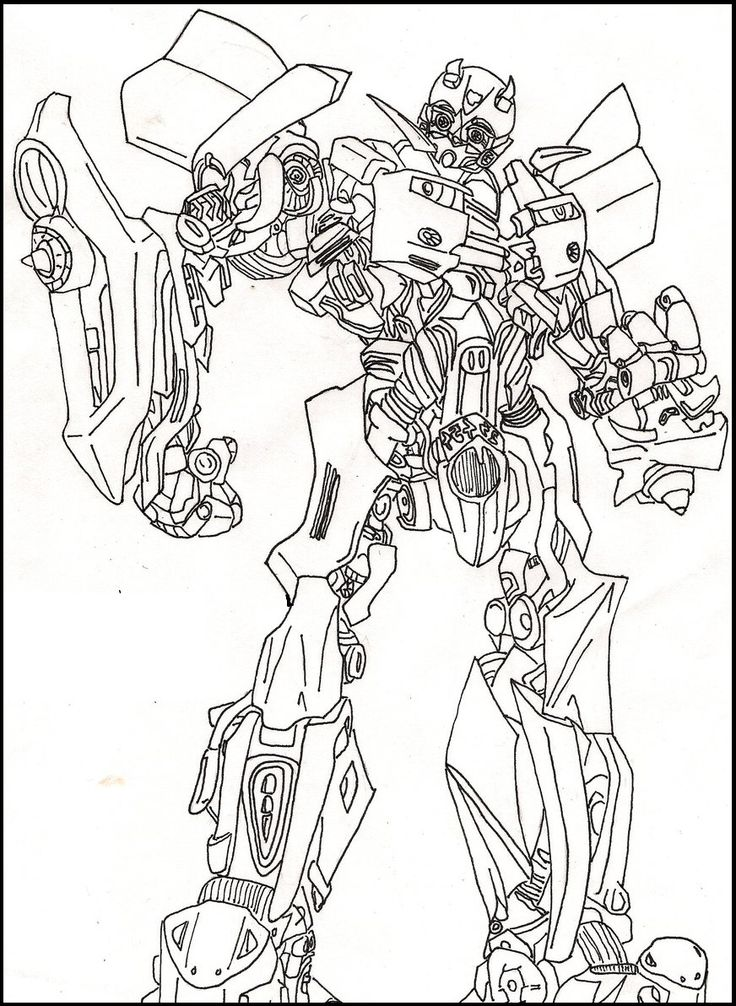 Bumble Bee Transformers Coloring Picture For Kids
