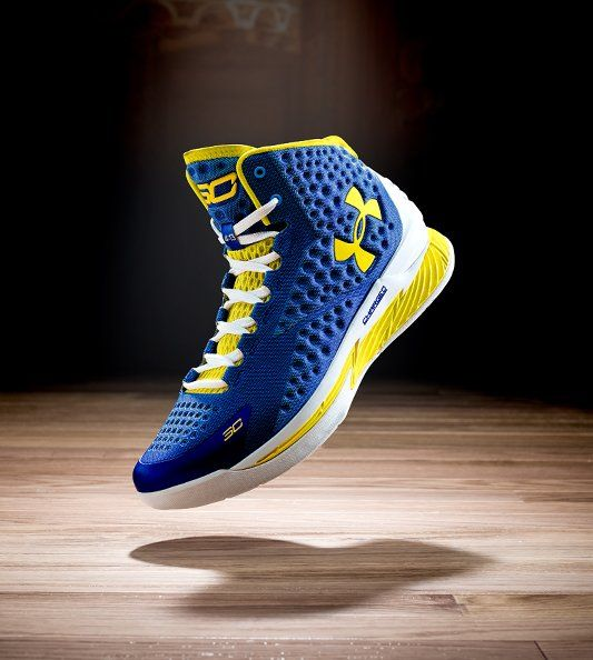 6889a702 ... Blue Gold Yellow; Check out Steph Curry's shoes that he'll wear to win  the conference finals today