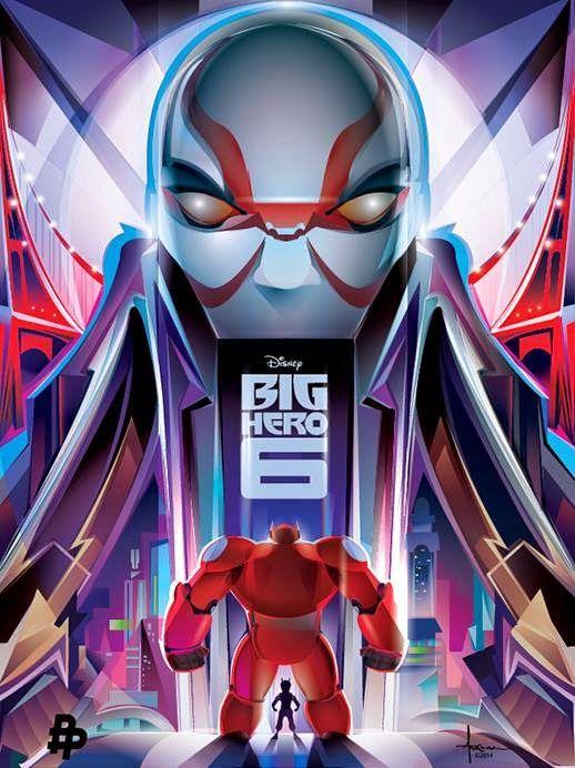 big hero 6 villain | Poster de Big Hero 6 protagonizado por Yokai, Hiro y Baymax