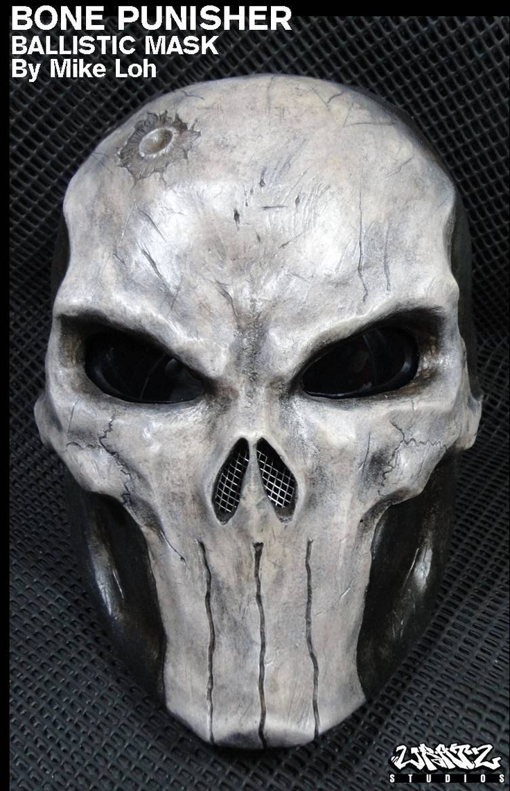 Bone Skull Punisher Mask Pre-Order. $280.00, via Etsy.