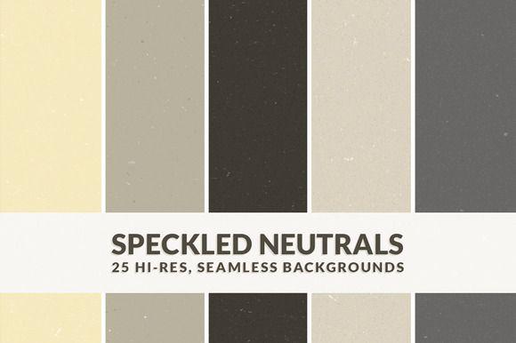 Speckled Neutrals ~ Textures on Creative Market