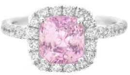 Baby Pink Sapphire Engagement Ring(GR-5834) $3249