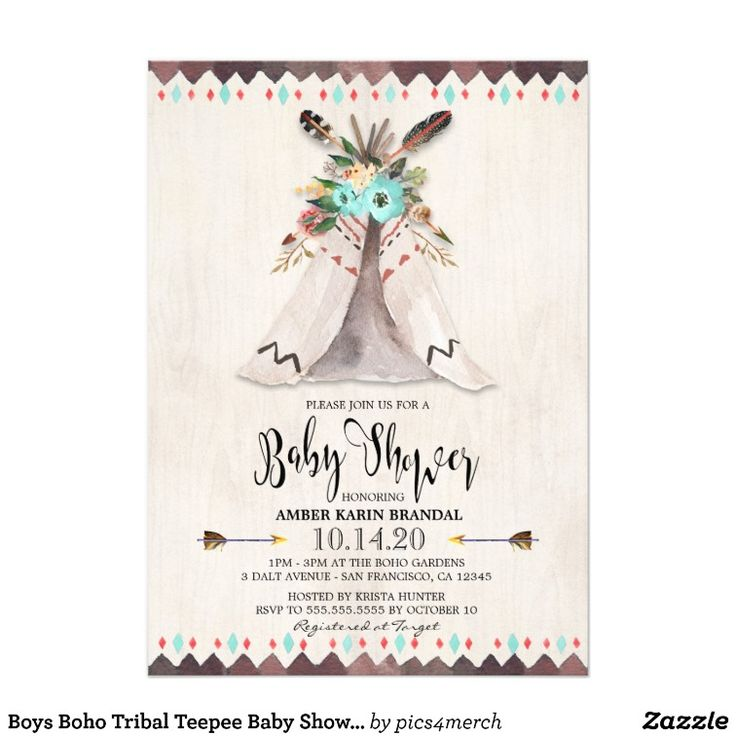 62 best Tribal Boho Baby Shower images on Pinterest Boho chic - baby shower invitation letter