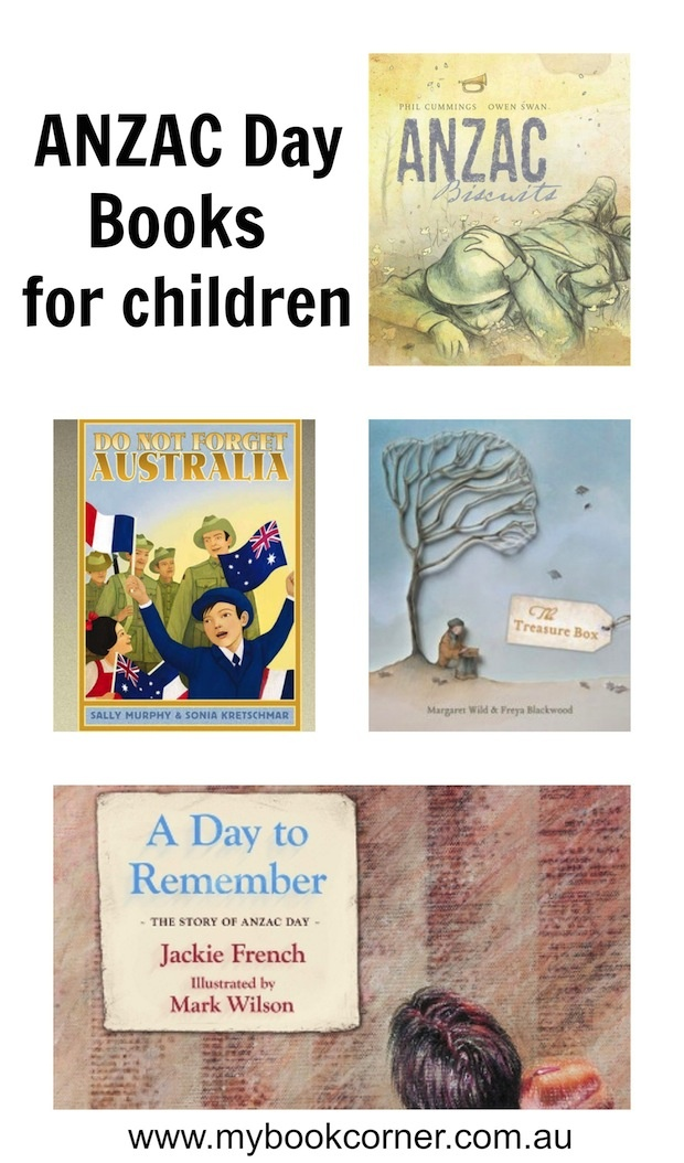ANZAC Day books for children to learn from.