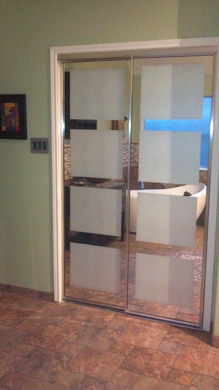 We used a roll of window tinting to give the closet doors a little zing  & 20 best Residential Tint images on Pinterest | Window film ... pezcame.com