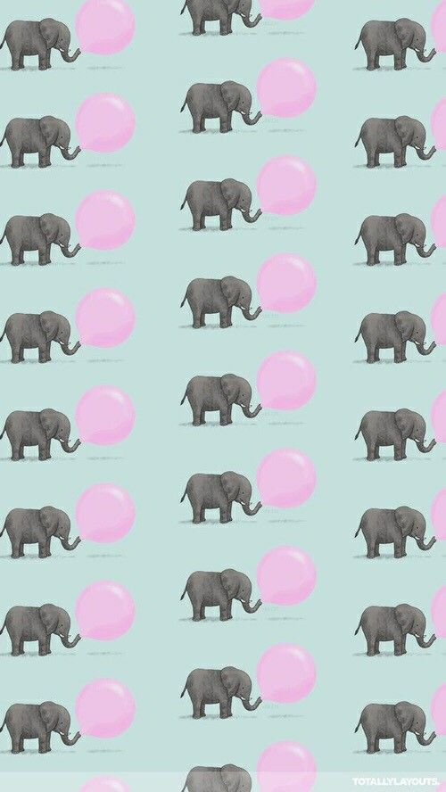 Elefantes, Wallpaper, padrão, backgrounds, bola de chiclete.