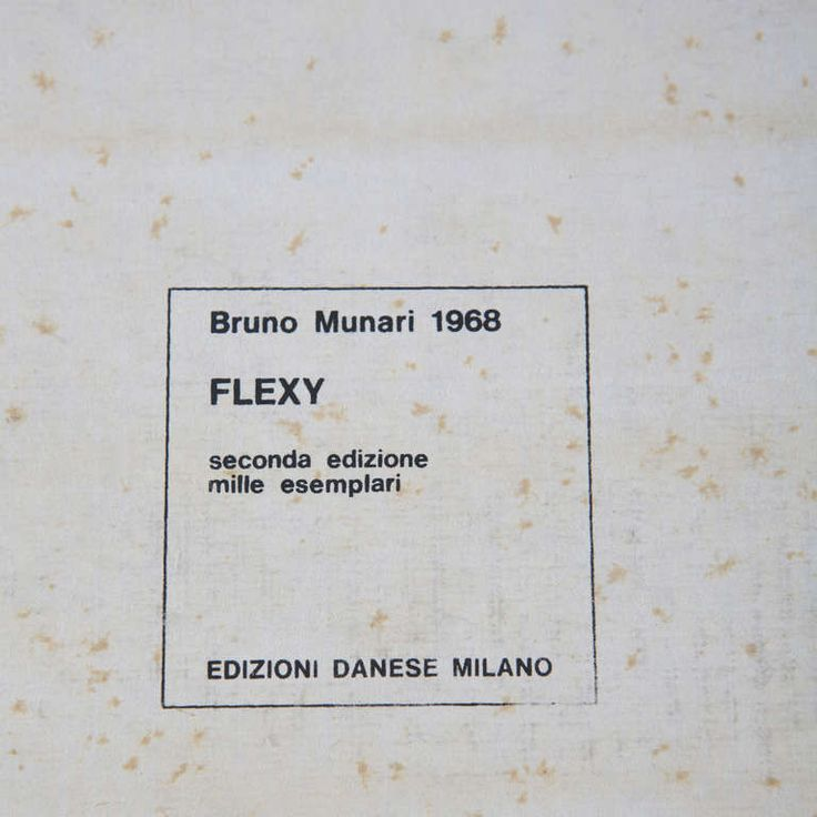 Bruno Munari – Flexy Sculpture for Danese, 1968
