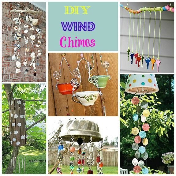 This a great collection of DIY Wind Chime ideas that upcycle or repurpose items!