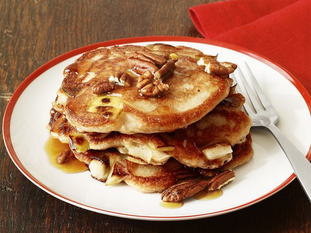 Green Apple Sourdough Pancakes #recipe
