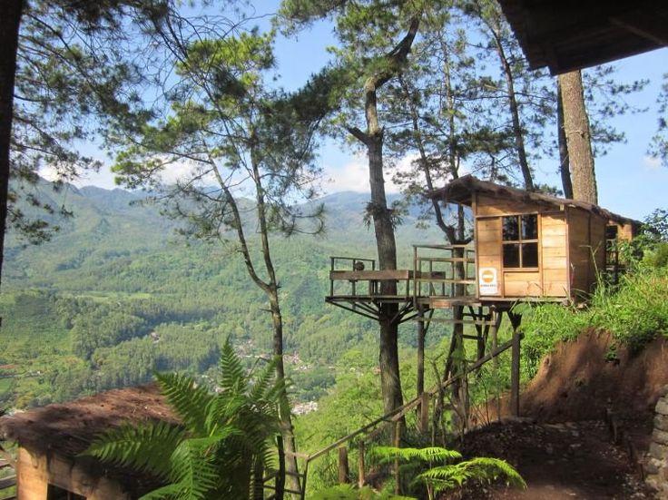 Pemandangan dari atas omah kayu - Batu Malang