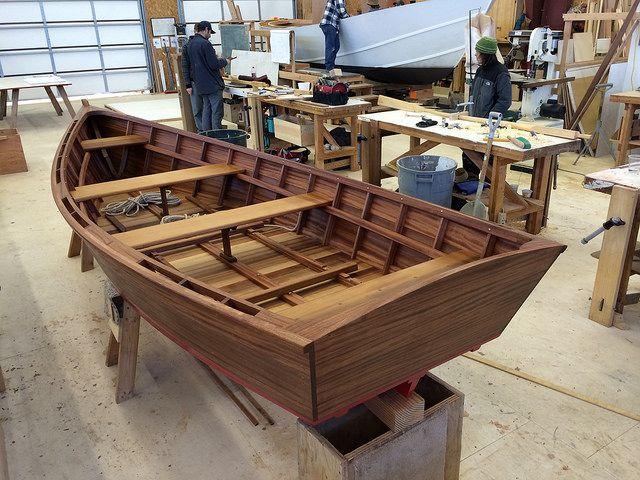 IMG_2533 - Port Hadlock WA - Northwest School of Wooden Boatbuilding - Skiff-Building - Ernie Baird's Beachcomber skiff - nearly complete by...