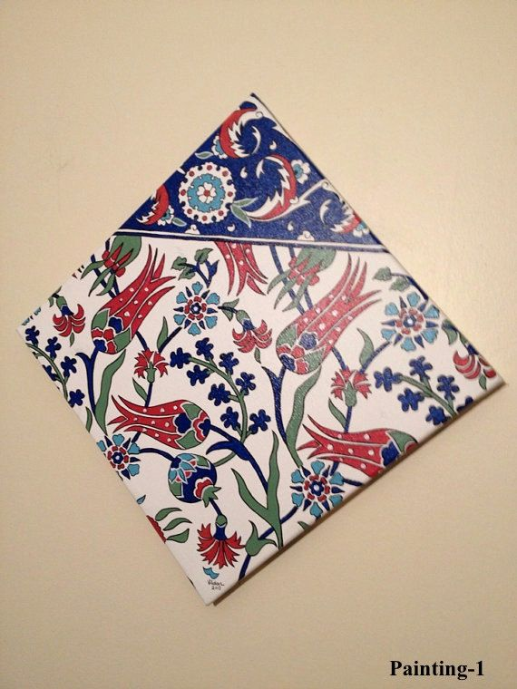Turkish tile design on canvas