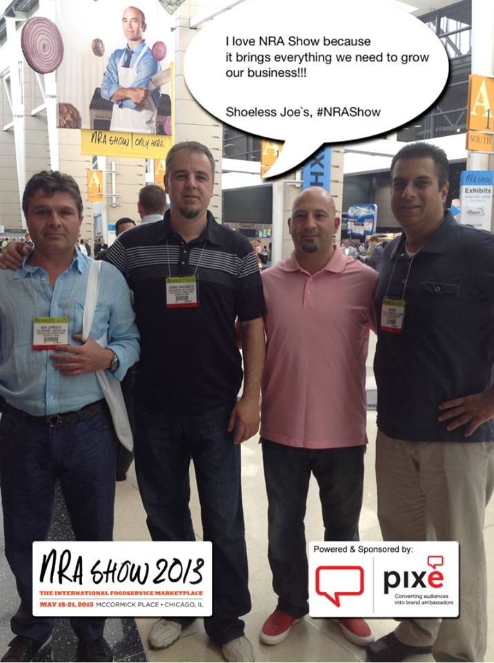I love NRA Show because it brings everything we need to grow our business!!! Shoeless Joe`s, #NRAShow #PixeSocial