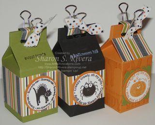 Stampin Up demonstrator/she cut  manually    http://www.artfulavocations.com/artful_avocations/2009/09/mini-halloween-milk-carton-treats.html