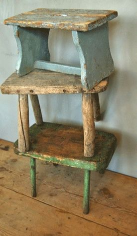 love a stack of old stepstools