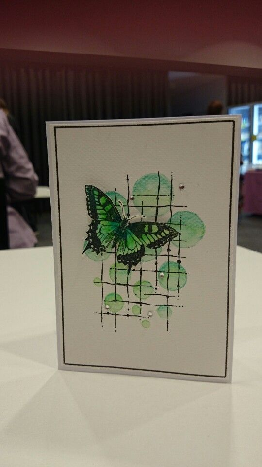Butterfly Watercolour Card