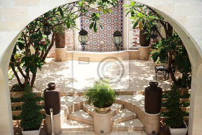 Marokańskie dziedzińce stylu na obrazach myloview. Najlepszej jakości fototapety, naklejki, obrazy, plakaty. Chcesz ozdobić swój dom? Tylko z myloview!