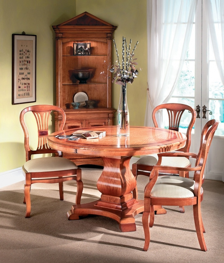 This Stylish Single Pedestal Dining Table Offers Dining Intimacy For Four  To Six People. In