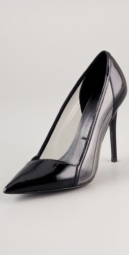 Such a beautiful shoe.Pointy Toes, Black Pump, Party Shoes, Avene Pointy, Cheap Shoes, Theyskens Theory, Beautiful Shoes, High Heels, Toes Pump