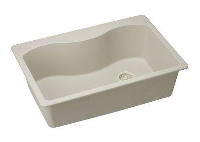 Elkay Harmony Single Basin Granite Composite Kitchen Sink For Drop Bisque  Fixture Kitchen Sink Granite