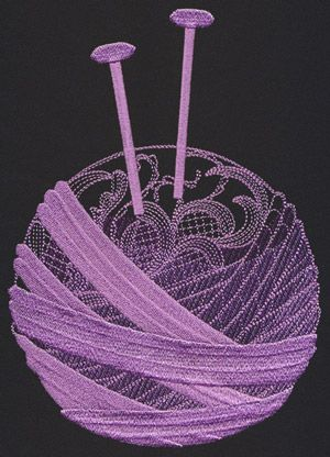 Artisan Crafts - Knitting Needles design (UT14616) from UrbanThreads.com