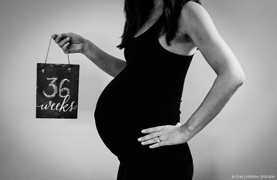 Pregnancy Weekly Slate Chalkboard Sign by CallidoraDesign on Etsy