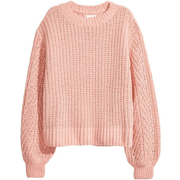 Loose-knit Sweater $19.99 ($20) ❤ liked on Polyvore featuring tops, sweaters, long knit sweater, pink top, pink jumper, long sleeve sweater and ribbed sweater