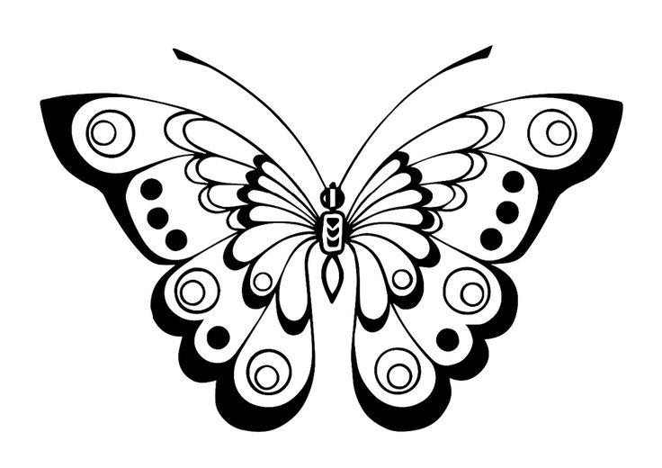 18 desenhos de borboletas para bordar ou desenhar
