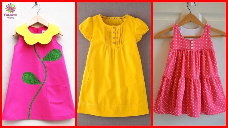 Kids Cotton Frocks Designs | Baby Girls Summer Dress | Easy to Stitch at...