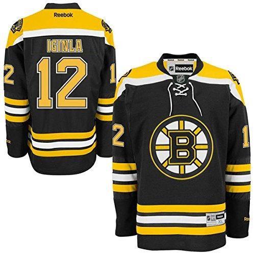 Reebok NFL Men s Boston Bruins Jarome Iginla   12 Premier Jersey - Black  5901d9f73