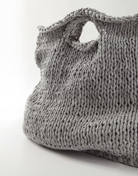 Grey Knit Tote.
