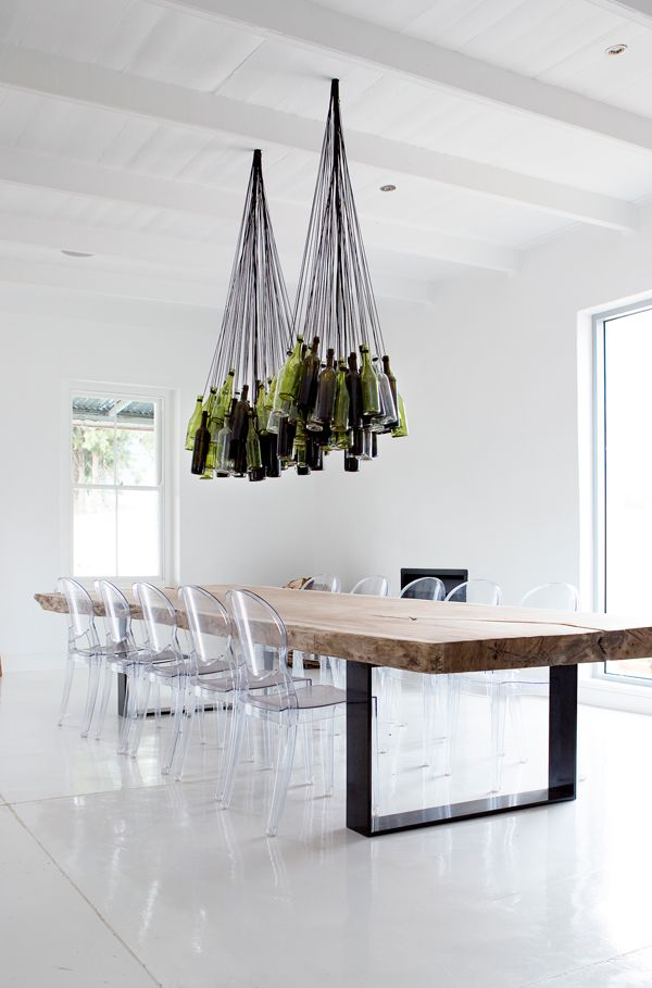 WEEKEND ESCAPE: MAISON ESTATE IN SOUTH AFRICA | THE STYLE FILES. Love that wine bottle chandelier!