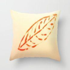 The orange leaf Throw Pillow