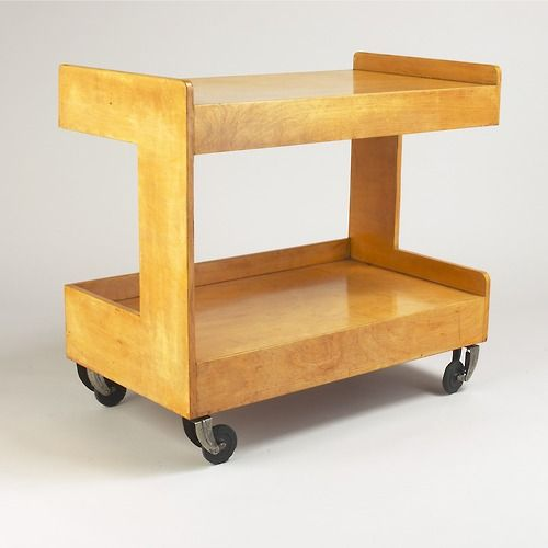 Gerard Summers, Trolley, 1935. Birch Ply. Makers of Simple Furniture, London.
