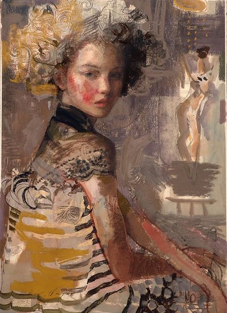 """Lace and Stripes"" by Charles Dwyer"