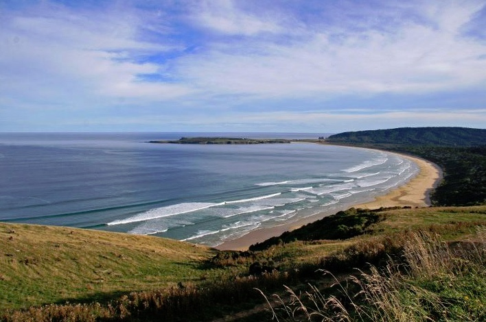 This is a great photo of Florence Hill view of Tautuku Beach, in the Catlins, Otago, New Zealand. Check out http://www.riverridgeretreat.co.nz/about-catlins.html to find more.