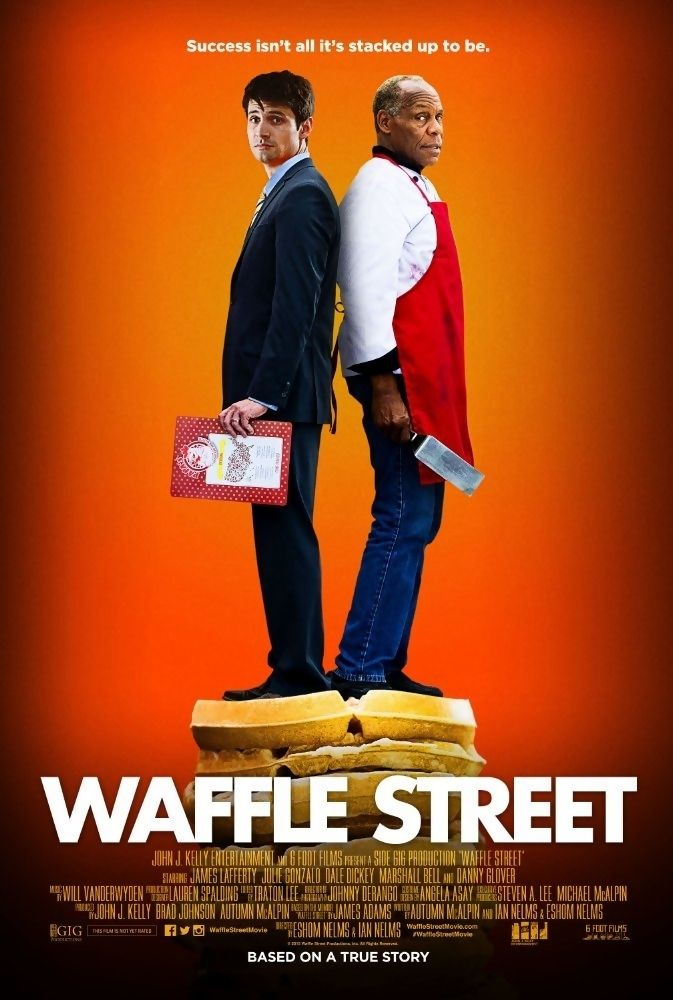 Waffle Street is a 2015 American drama/comedy film starring Danny Glover and James Lafferty and directed by Eshom Nelms and Ian Nelms. It is a film adaptation of James Adams' memoir of the same name, published by Sourced Media Books in 2010. The riches-to-rags story follows Adams' journey of self-discovery and redemption after losing his job as vice president of a multi-billion dollar hedge fund and finding work as a server at a local 24-hour diner.