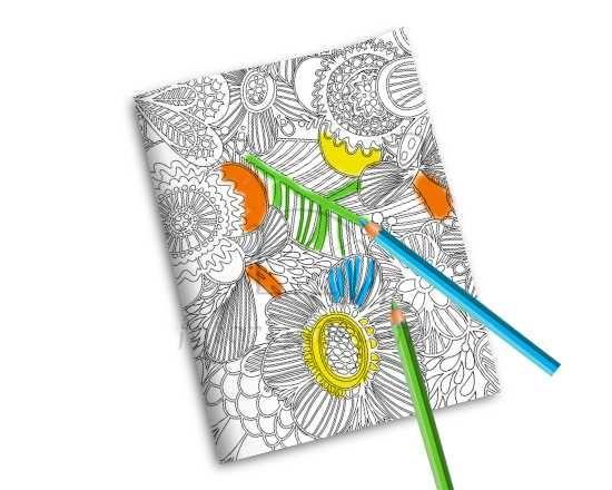 Quaderno Copertina da Colorare Nature