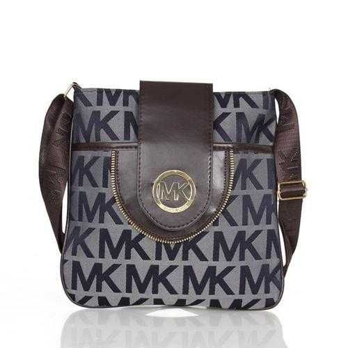 Michael Kors Fulton Logo Signature Large Navy Crossbody Bags Outlet - $75.99