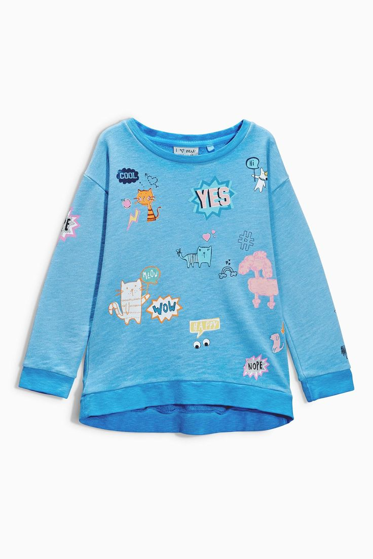 Buy Icon Blue Wash Crew (3-16yrs) from the Next UK online shop