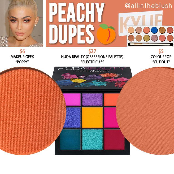 Kylie Cosmetics Peachy Eyeshadow Dupes [Royal Peach Palette
