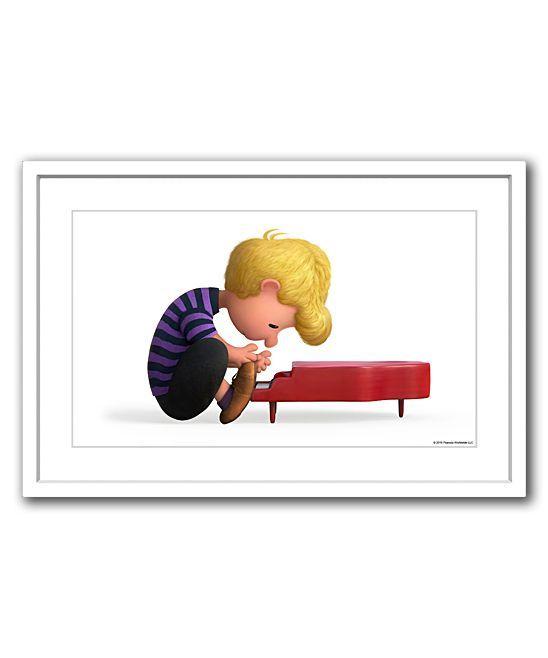 Peanuts Schroeder Plays Piano Framed Giclée Print