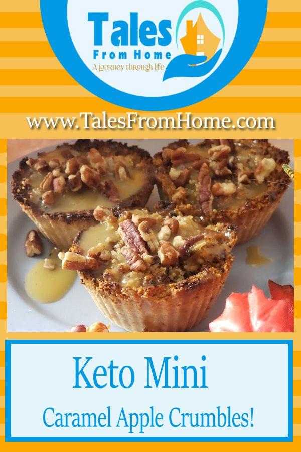 Keto Mini Caramel Apple Crumbles – Geschichten von zu Hause aus   – Bloggers Galore!