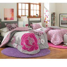 Leah Reversible Bedding Set $39.99 XL Twin: Dorm Room, Leah Reversible, College Dorm, Comforter Sets, Extra Long, Long Twin, Reversible Bedding, Bedding Sets, Pink Reversible